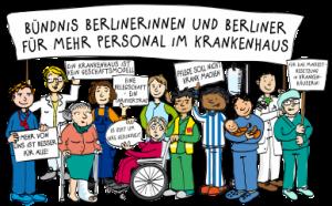 Logo Berliner Bündnis für mehr Personal im Krankenhaus